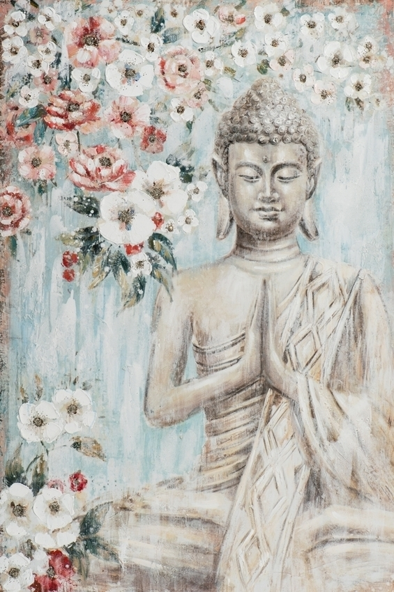bouddha with flowers