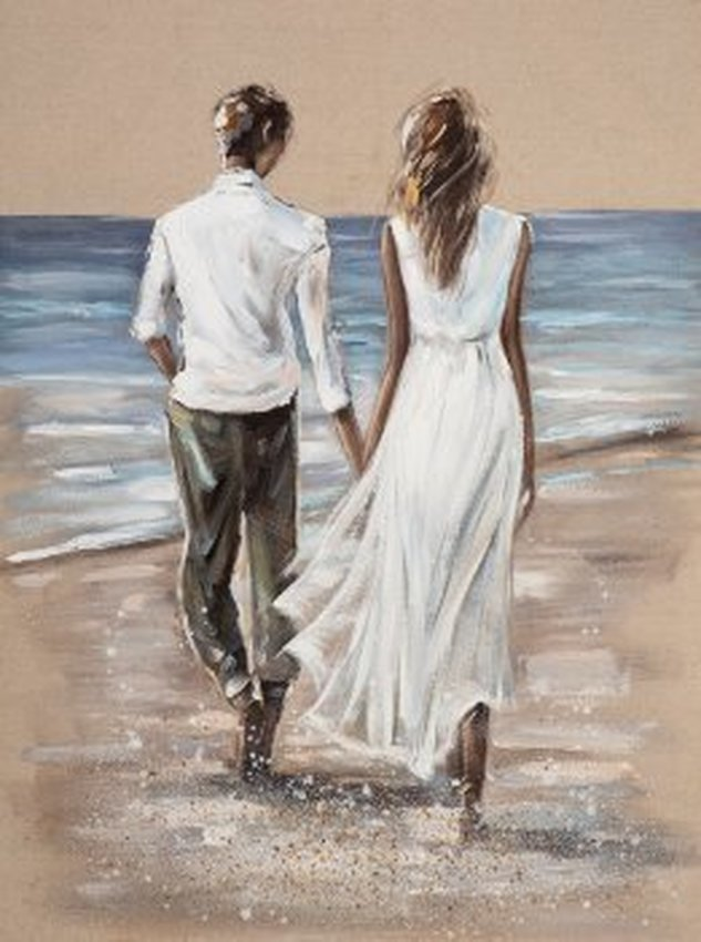 Amoureux à la plage