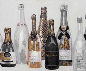 Tableau soirée champagne noir et blanc