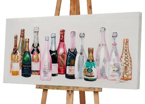 Tableau soirée champagne coloré