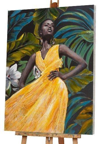 beauté en robe jaune