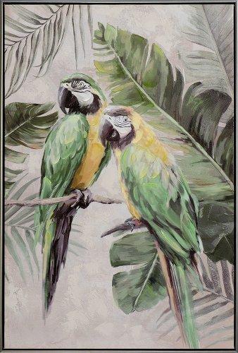 perroquets verts-jaunes