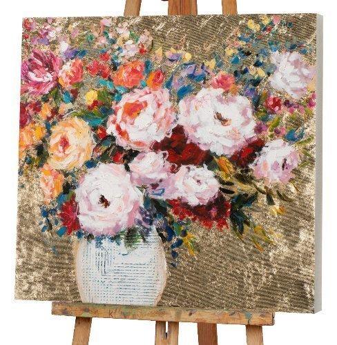 vase à fleurs sur fond doré