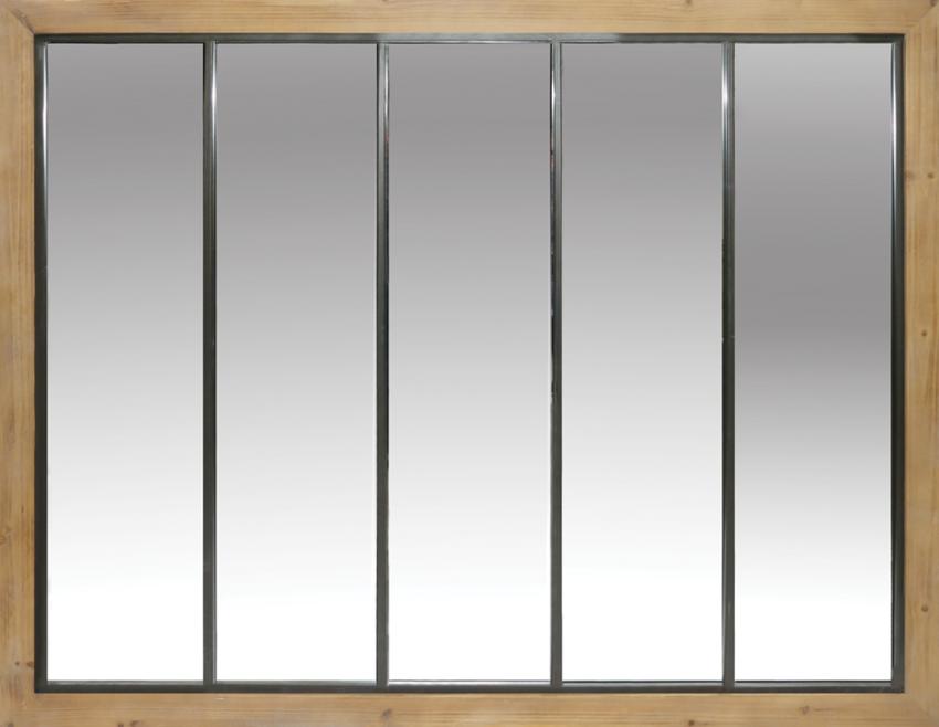 Miroir chêne Lavé