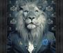 lion yeux bleus