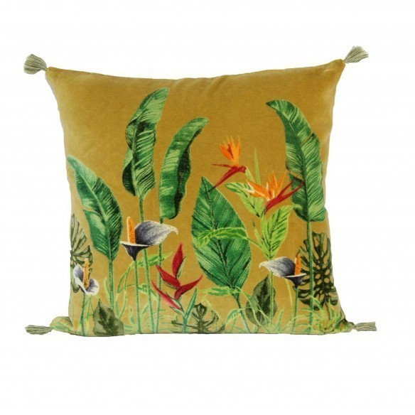 coussin arôme velours antic moss